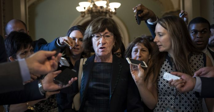 Susan Collins — a key Senate swing vote — is concerned about new Kavanaugh allegations