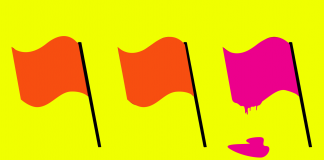 Are you spray painting the red flags hot pink? A few ways to know