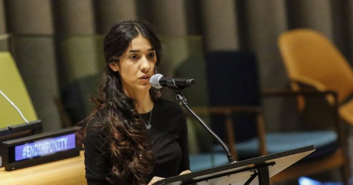 Nadia Murad, a Yazidi woman who was captured by ISIS, just won the Nobel Peace Prize