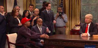 """He's black me!"": Alec Baldwin returns to SNL to spoof Trump's Kanye West meeting"