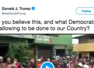 Trump just tweeted out a cryptic video of people getting money in Spanish