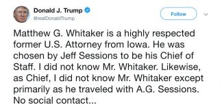 Trump really wants you to think he doesn't know Whitaker