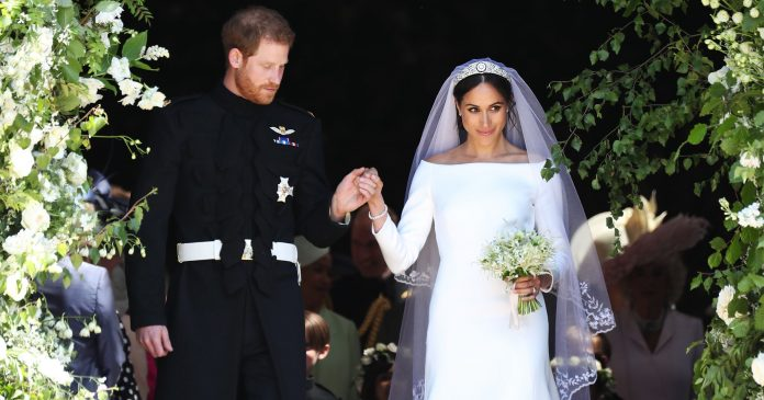 Did Queen Elizabeth Shade Meghan Markle's White Wedding Dress?