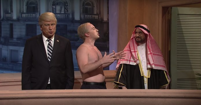 On SNL's cold open, Trump is jealous of Putin and MBS's budding bromance