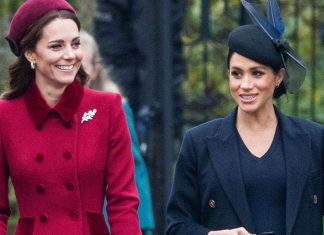 Here's What Meghan Markle & Kate Middleton, All Smiles, Wore To Church On Christmas