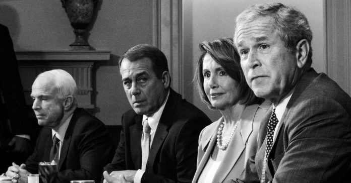 """Pelosi learned the art of """"no"""" working with Bush. Trump is a whole new test."""