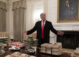 The controversy around Trump's fast-food football feast, explained