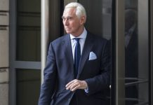 Roger Stone wore an understated — for him — suit to court. Then he made a video about it.