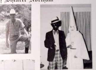 Virginia governor's 1984 yearbook page features people in blackface and KKK hood
