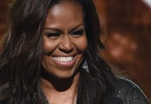 Michelle Obama Glittered On The Grammys Stage In A Jumpsuit