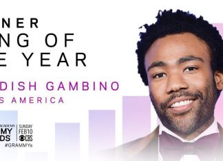 "Childish Gambino's ""This Is America"" wins Song of the Year at the Grammys"
