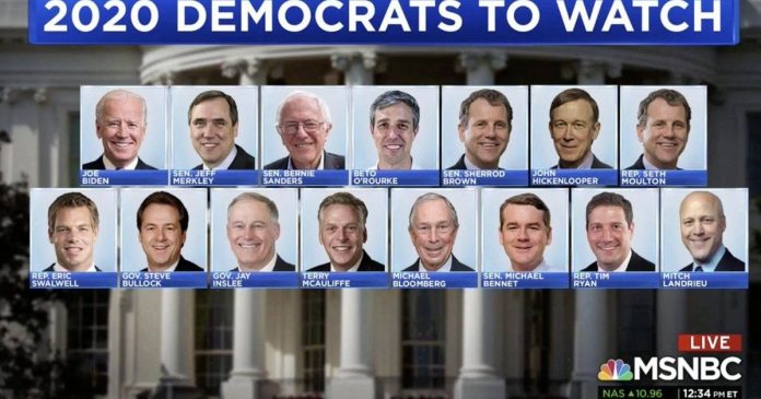 What the all-white, all-male MSNBC graphic actually teaches us about the 2020 race