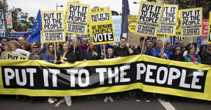 The massive anti-Brexit protest march in the UK, in 19 photos