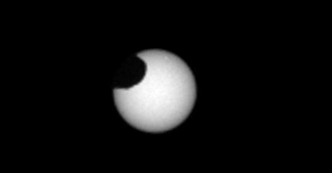 The strange sight of a solar eclipse on Mars