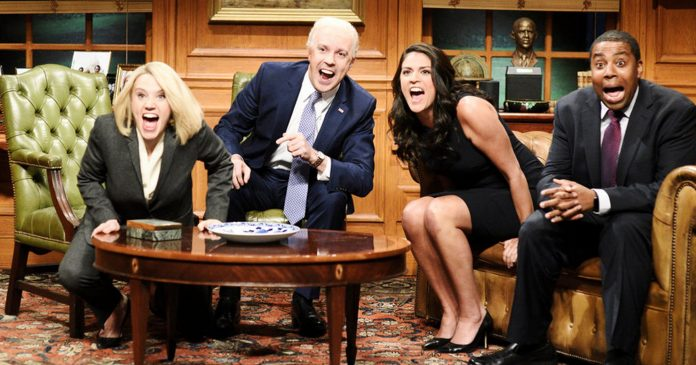 Saturday Night Live Nailed The Problem With Joe Biden & His Touchy-Feely Behavior
