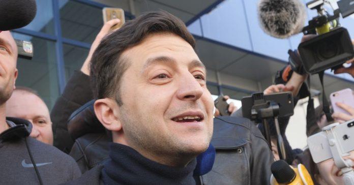 A comedian just became Ukraine's next president