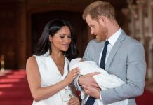 Meghan Markle and Prince Harry appear with the royal baby for the first time