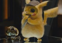 Detective Pikachu is Who Framed Roger Rabbit in Pokémon footie pajamas