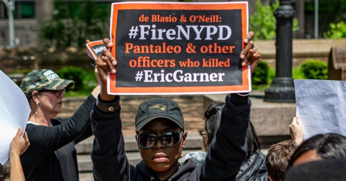 Eric Garner died during a 2014 police encounter. An officer involved might lose his job.