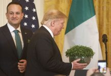 President Trump will meet the Irish prime minister — at the airport