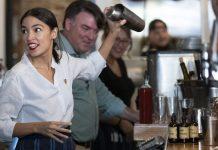 Rep. Alexandria Ocasio-Cortez returns to bartending in support of a $15 minimum wage