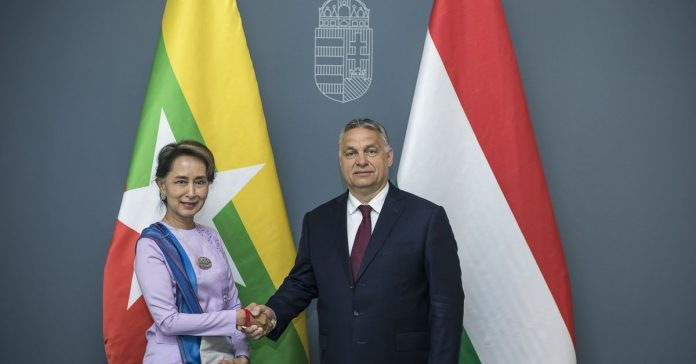 """Aung San Suu Kyi meets with Hungary's Orbán to lament their """"growing Muslim populations"""""""