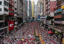 Hundreds of thousands attend protest in Hong Kong over extradition bill