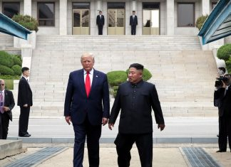 Trump steps into North Korea to meet with Kim Jong Un