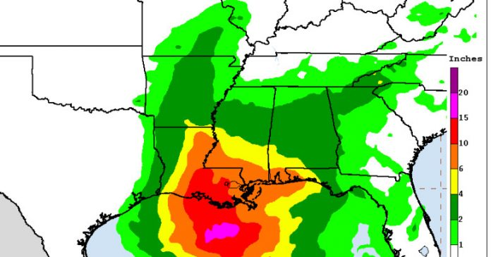 Louisiana may get hit by a hurricane this weekend. New Orleans is already flooded.