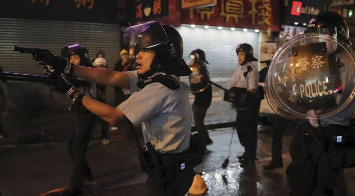 Police deploy water cannons and live ammunition at the latest Hong Kong protests