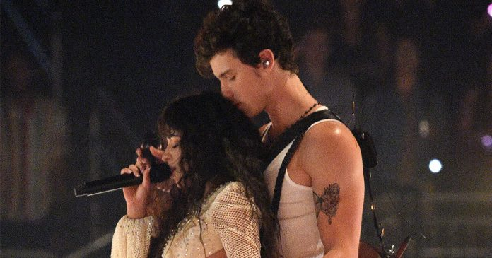 "Shawn Mendes & Camila Cabello Lit Up The VMAs Stage For ""Señorita"""