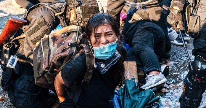 Hong Kong protests turn violent as Beijing celebrates the Communist regime's founding