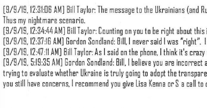 Read: Democrats release Ukraine scandal texts from State Department officials