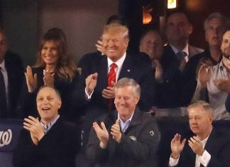 """Trump was on the receiving end of """"lock him up"""" chants at the World Series"""