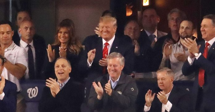 "Trump was on the receiving end of ""lock him up"" chants at the World Series"