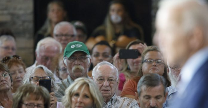 In Iowa, only 5 percent of Biden supporters are younger than 45