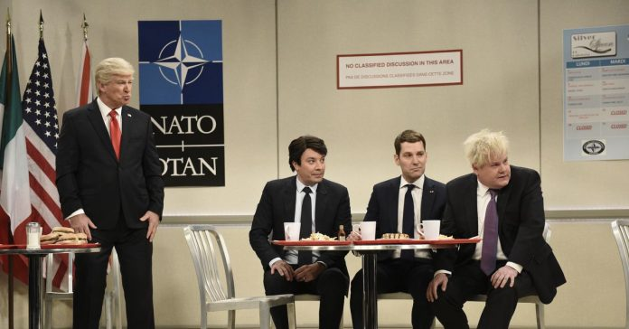 Trump isn't allowed at NATO's cool kids' table in SNL's cold open