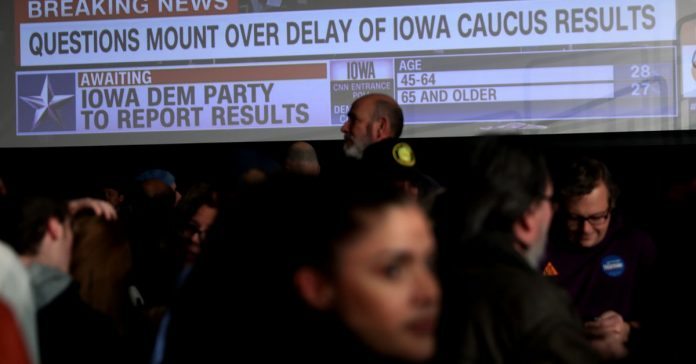 Technical difficulties in Iowa caucuses lead to widespread confusion, delayed results