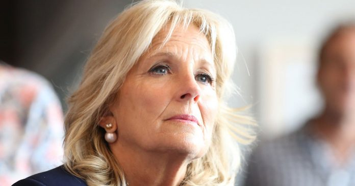 Watch Jill Biden Protect Her Husband From A Heckling Fan In New Hampshire
