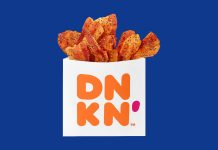 """The Latest Dunkin' Donuts Menu Item Is An On-The-Go Bag Of """"Snackable Bacon"""""""