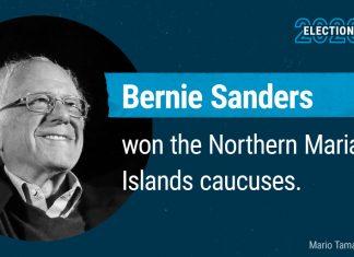 Bernie Sanders wins the Northern Mariana Islands caucuses
