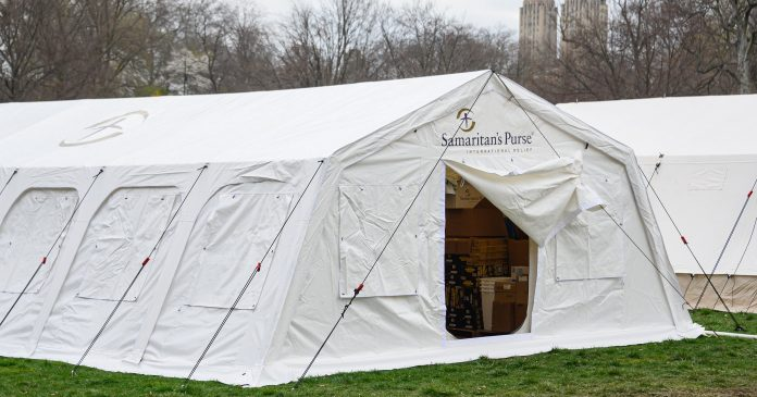 Is This Central Park Field Hospital Being Run By A Hate Group?
