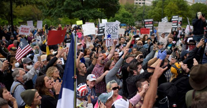 Protests against stay-at-home orders are spreading despite most Americans' fear of reopening