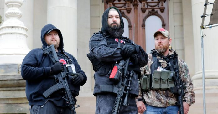 Armed protesters entered Michigan's state capitol during rally against stay-at-home order
