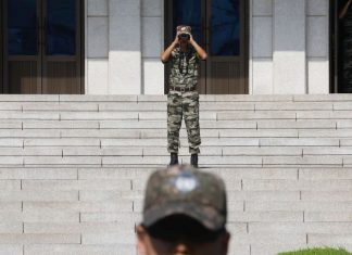 North Korea and South Korea exchange gunfire across the DMZ for the first time since 2017