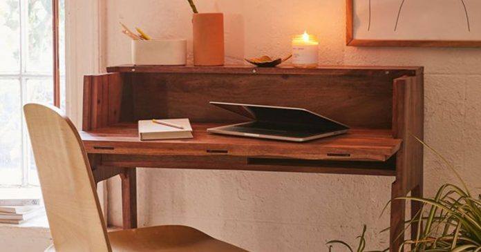 10 Genius Desks You Can Fold Up & Tuck Away (When You're Off The WFH Clock)