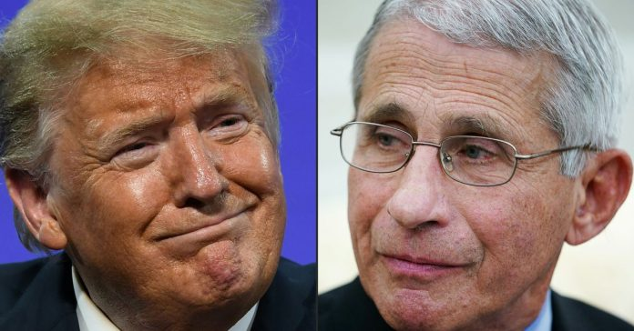 """Trump's new attack: Biden """"wants to listen to Fauci"""""""