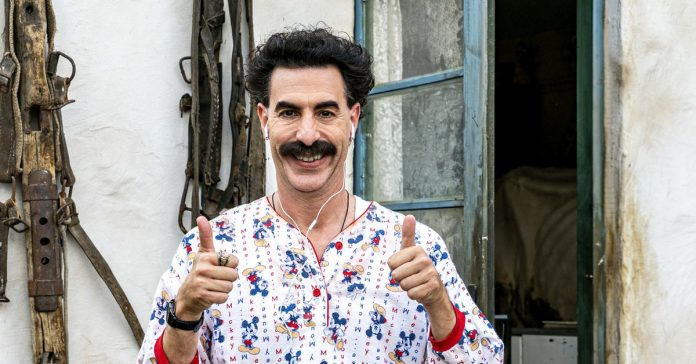 The new Borat movie's best moments mock a Trump-era fixation on a particular female aesthetic
