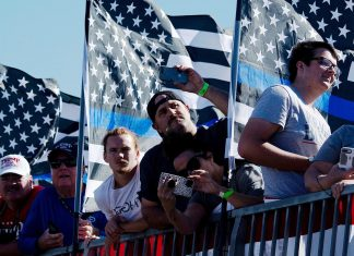 What It Means That Trump Has Abandoned The American Flag For The Blue Lives Matter Flag