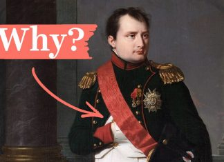 Napoleon's missing hand, explained